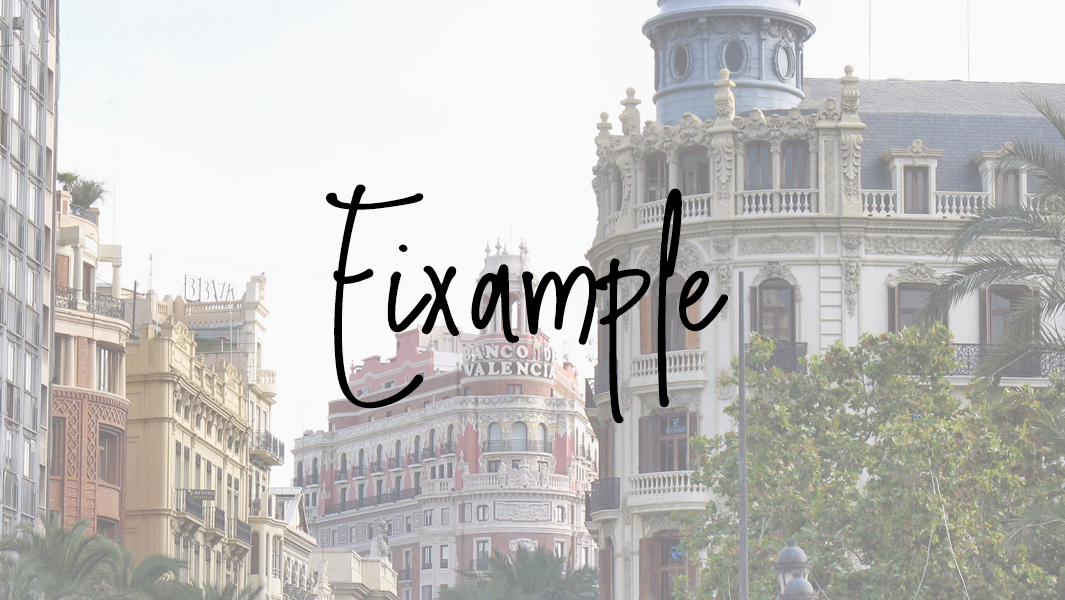 Valencia: barrio L'Eixample