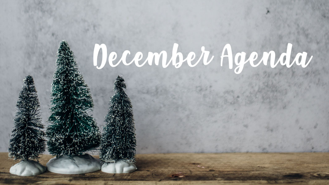 What you cannot miss in December!