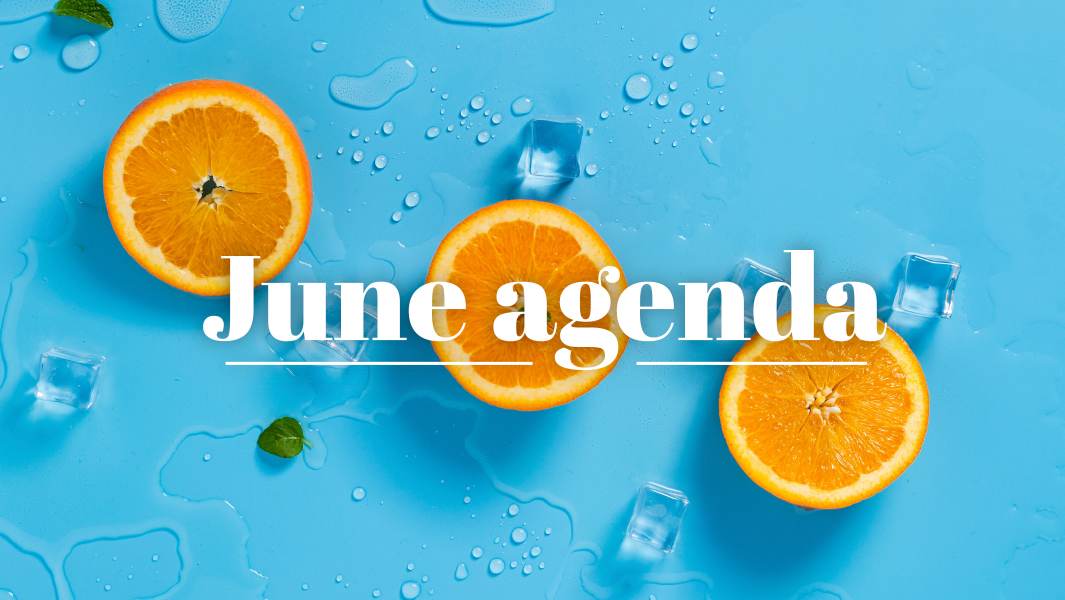 What you cannot miss in June!