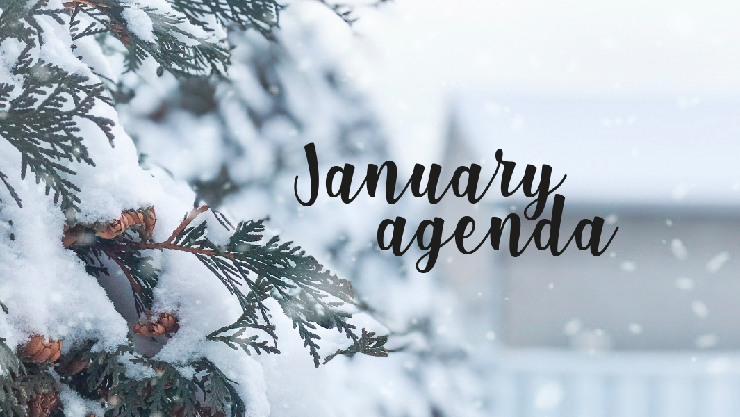 What you cannot miss in January!