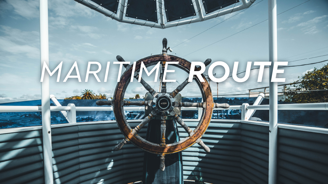 Maritime-route in Barcelona